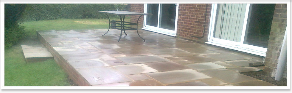 patios with intricate designs